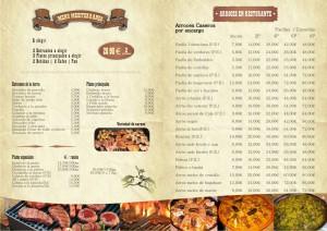 Diseño menú carta de restaurante en Lanzarote