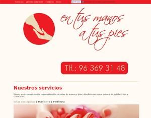 diseño web uñas esculpidas en valencia