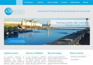 Diseño web Lanzarote Asociacion ASPROGO