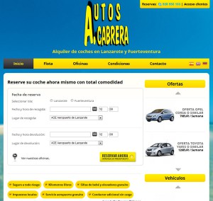 Diseño web Canarias Alquiler de coches